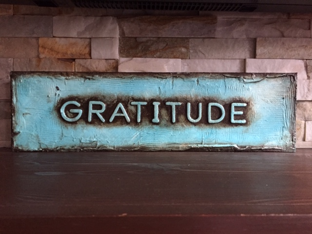 Gratitude and moving forward